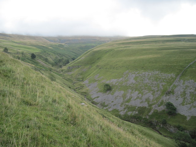 Dowber  Gill  Beck  from  the  edge