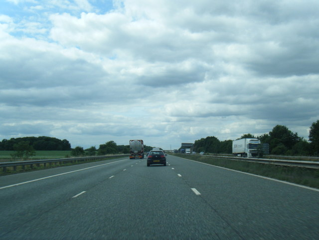 M62 westbound near Cowick Hall