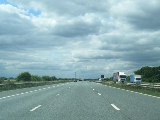 M62 westbound near Shearburn Plantation