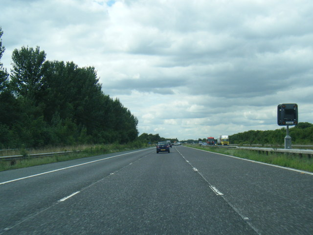 M62 westbound nearing Great Heck