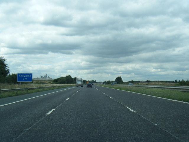 M62 westbound near Gowdall Broach