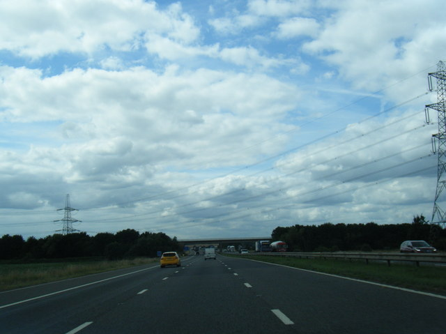 M62 westbound at Stubbs Common