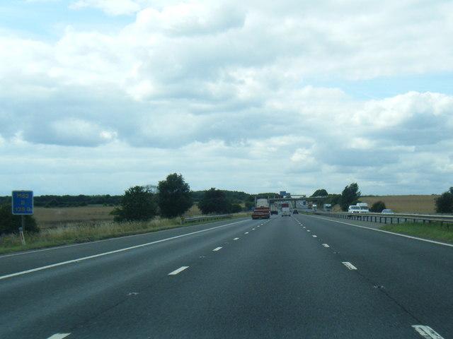 M62 westbound near Cridling Park