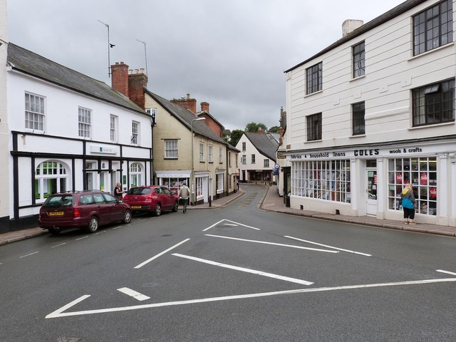 Junction of Gold Street and Silver Street, Ottery St. Mary, Devon