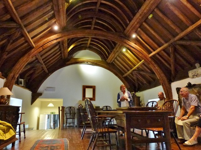 Superb roof timbers, Cadhay House