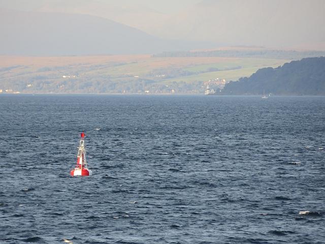 Safe water buoy off Skelmorlie