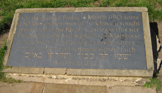 Memorial plaque, Clifford's Tower