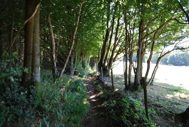 Narrow bridleway