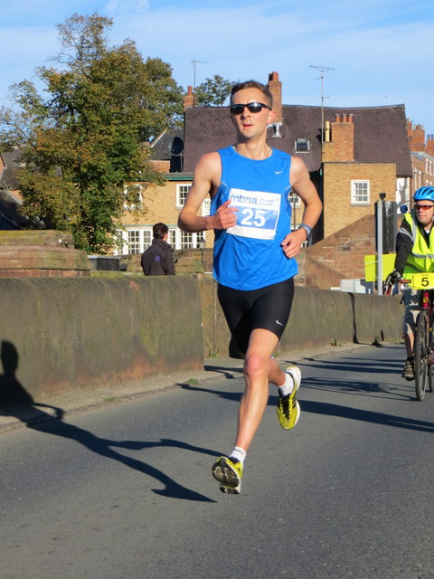 MBNA Chester Marathon 2013 - #25 on the Old Dee Bridge