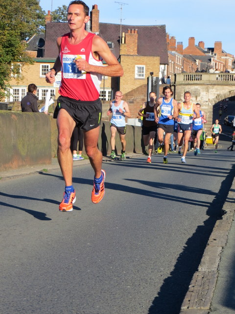 MBNA Chester Marathon 2013 - More runners on the Old Dee Bridge