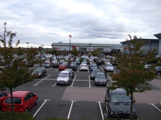 Retail park car park