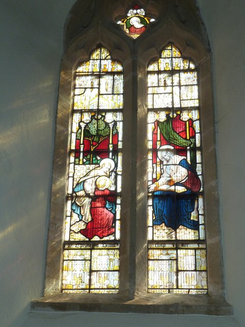 St Nicholas, Sandford Orcas: stained glass window (a)