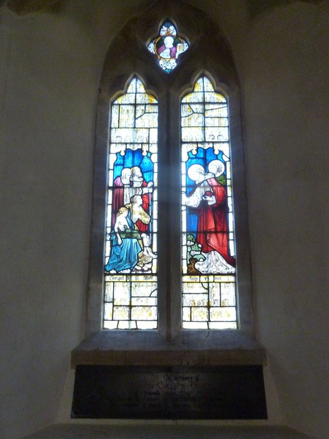 St Nicholas, Sandford Orcas: stained glass window (b)