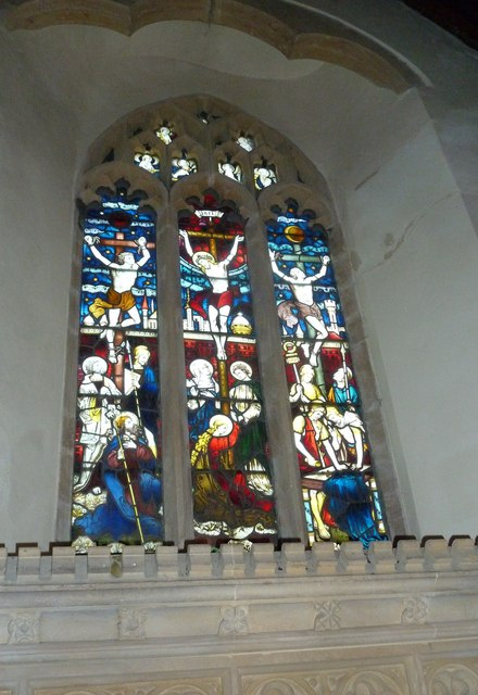 St Nicholas, Sandford Orcas: stained glass window (c)