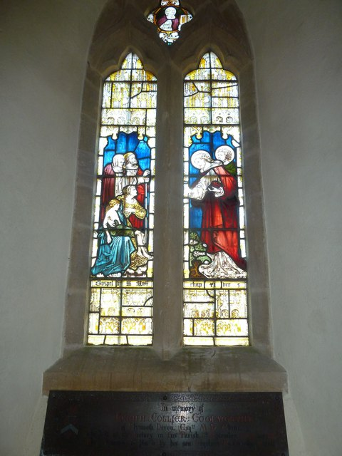 St Nicholas, Sandford Orcas: stained glass window (d)