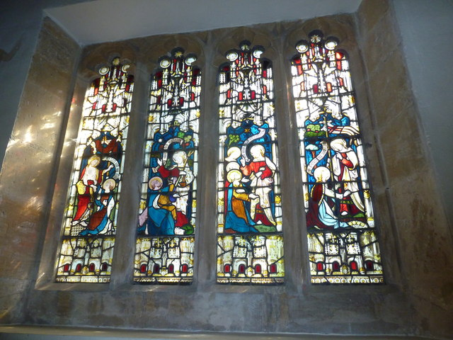 St Nicholas, Sandford Orcas: stained glass window (f)