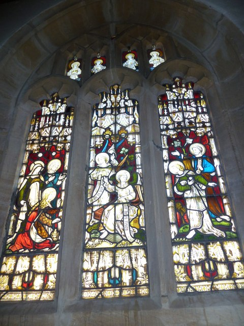 St Nicholas, Sandford Orcas: stained glass window (g)