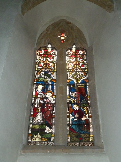 St Nicholas, Sandford Orcas: stained glass window (h)