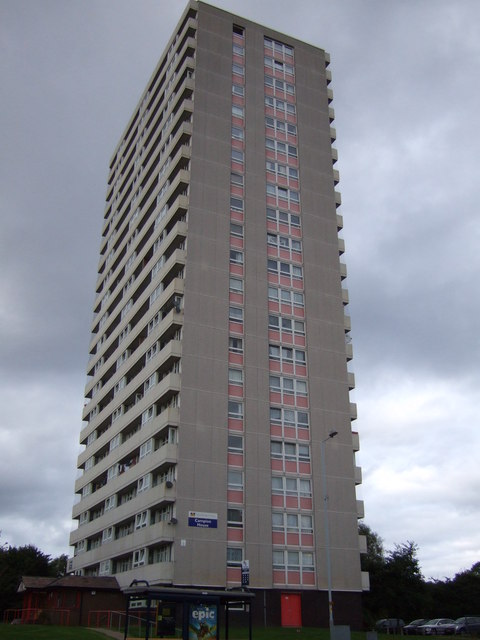 Tower block off Wolverhampton Road