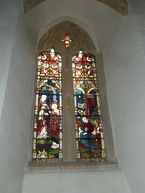 St Nicholas, Sandford Orcas: stained glass window (i)