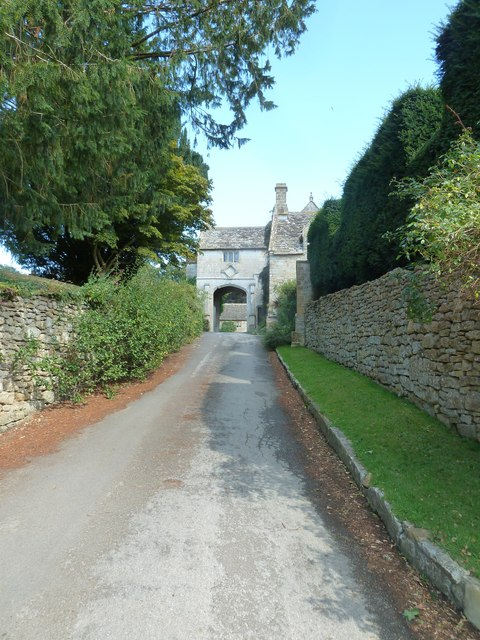 Looking up Church Lane towards The Manor