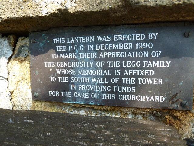 St Nicholas, Sandford Orcas: memorial (iv)