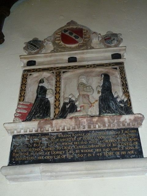 St Nicholas, Sandford Orcas: memorial (v)
