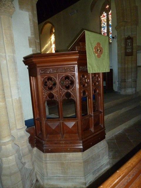 St Nicholas, Sandford Orcas: pulpit
