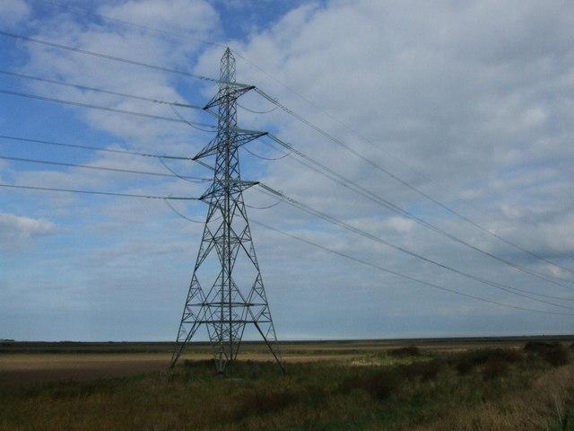Pylon on Nagden Marshes