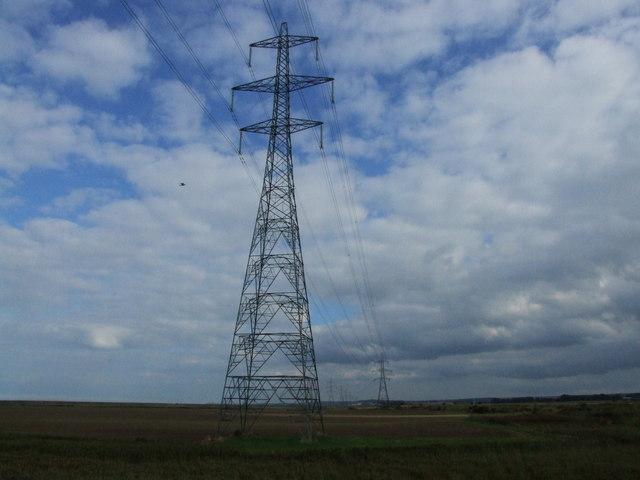 Pylons on Nagden Marsh