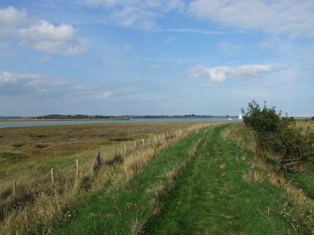 Saxon Shore Way by Faversham Creek