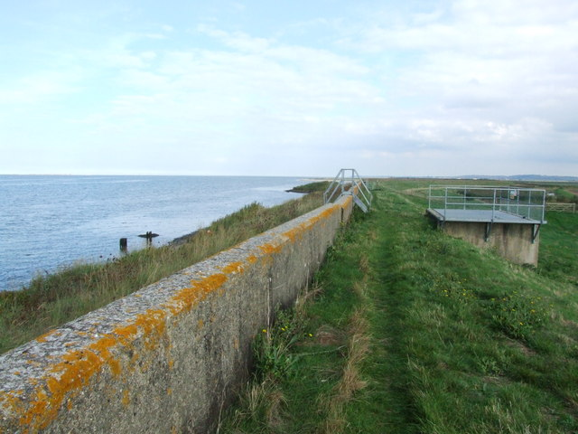 Sea Wall by the Swale