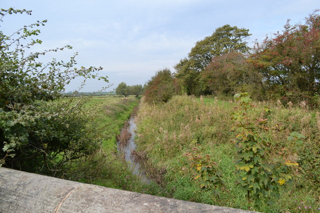 Middle Pool Stream from Toll House Bridge, Preston New Road, Freckleton