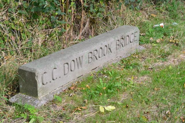 Dow Brook Bridge Stone (North Side), Preston New Road, Freckleton