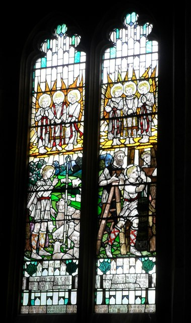 Stained glass window, St. Andrew's, Steyning