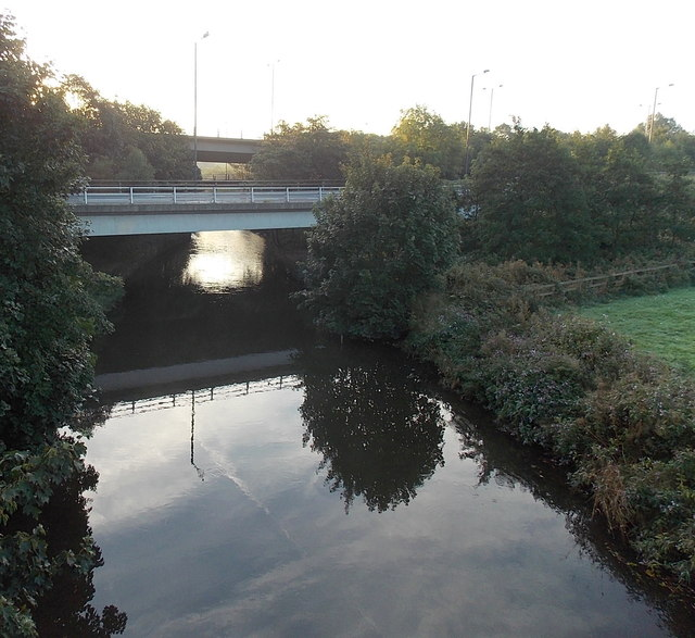 M66 crosses the River Roch between Bury and Rochdale