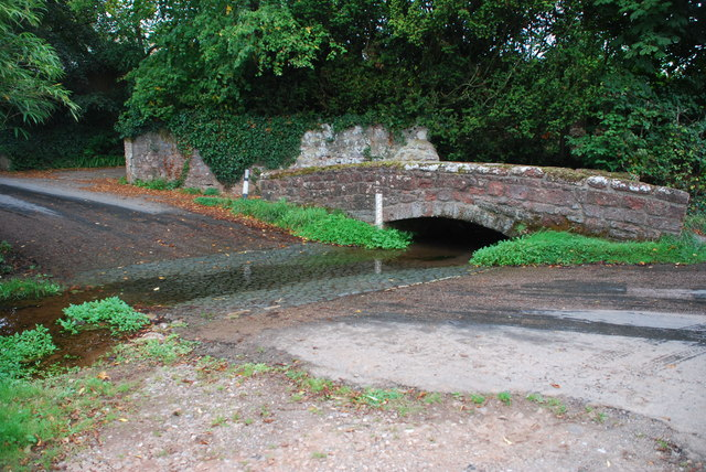 Ford and Footbridge at Pytte