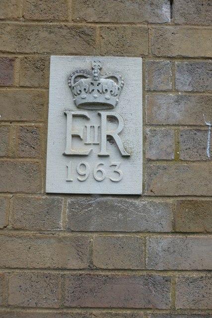 Date plaque on Telephone exchange