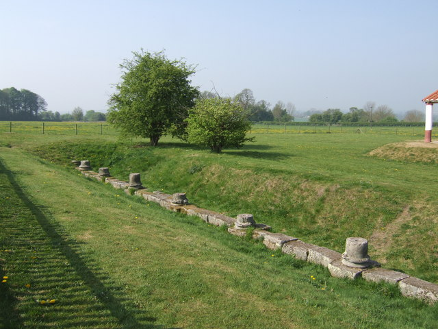 Building foundations at Wroxeter