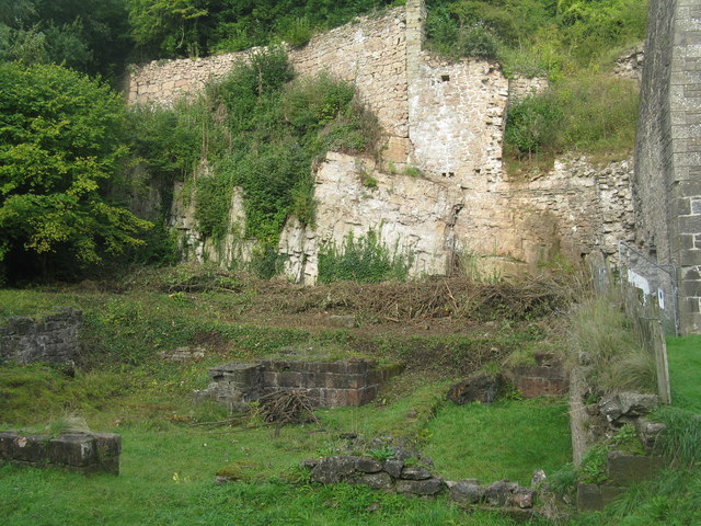 Furnace remains at Whitecliff