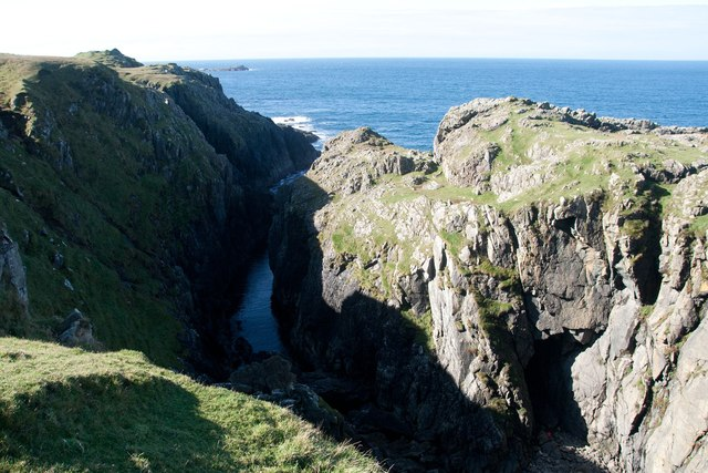 Inlet and cave on the west coast of Islay