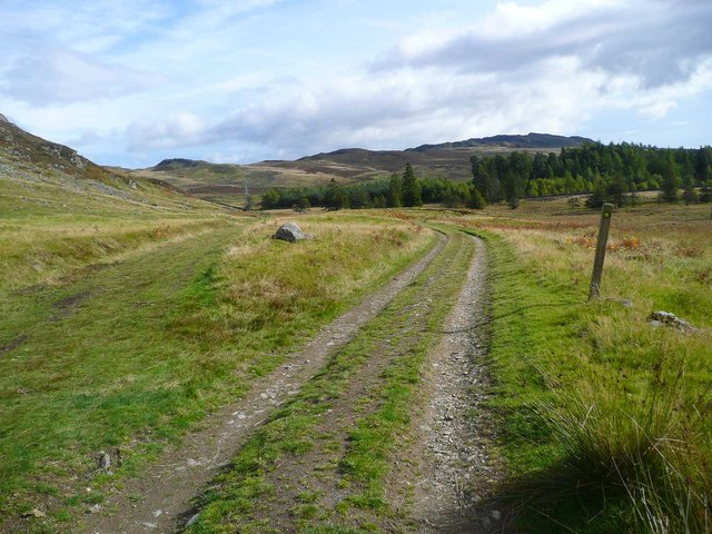 The track from Riemore Lodge