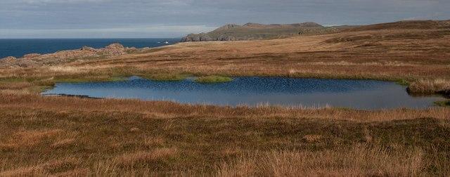 Moorland Pool near Claddach Loch, Islay