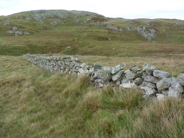 Dry stone wall near Port Fròige, Islay