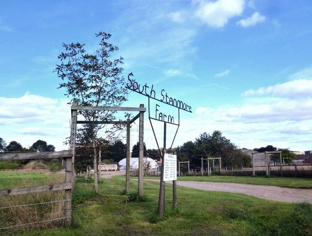 Entrance to South Stanmore Farm