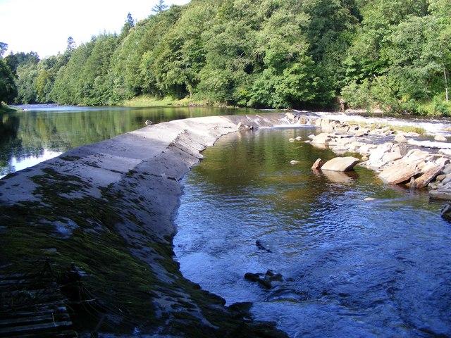 Hollows Mill caul - River Esk