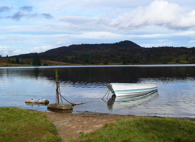 Boat on Loch Ordie