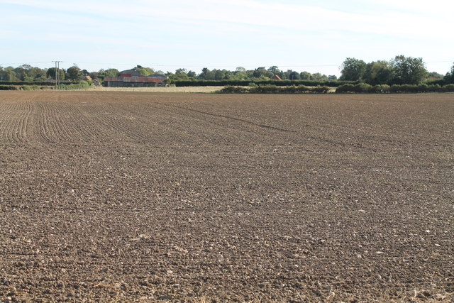 Ploughed fields off Red Leas Lane