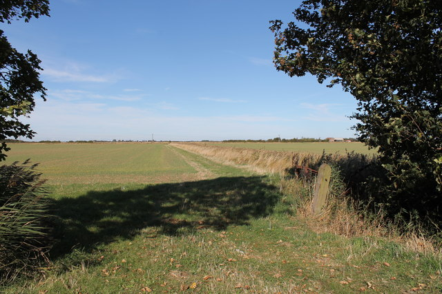 Entrance to a field off B1200