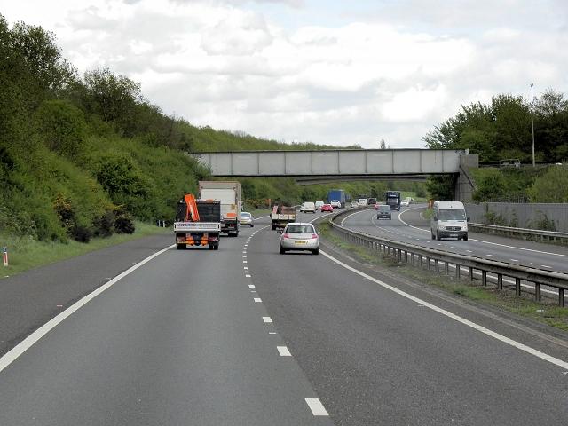 Railway Bridge over the M26 near Otford